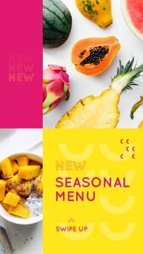 Fresh tropical Fruits menu