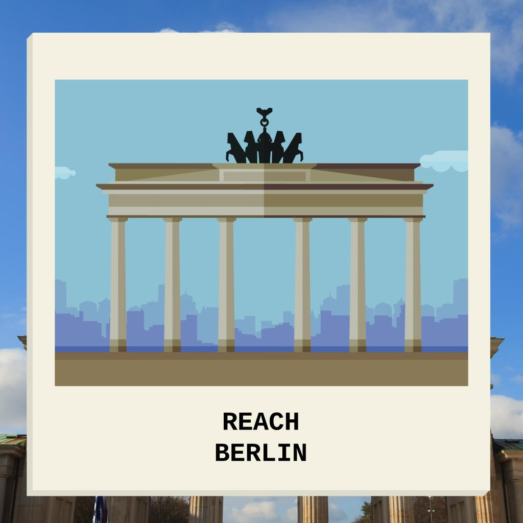 Reach Berlin  Postcard — Create a Design
