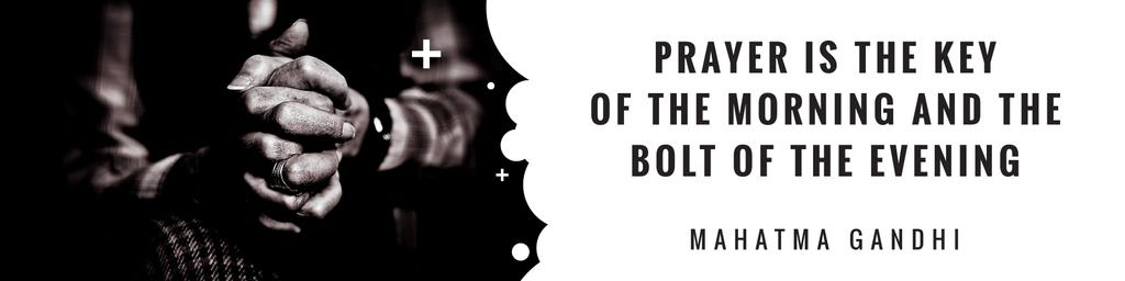 Religion citation about prayer — Modelo de projeto