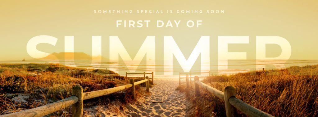 First day of summer banner — ein Design erstellen
