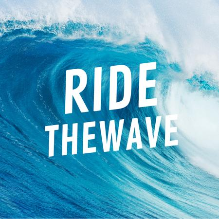 Plantilla de diseño de Curl of big wave Animated Post