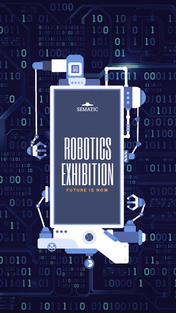 Modèle de visuel Robotics Production Line Frame - Instagram Video Story