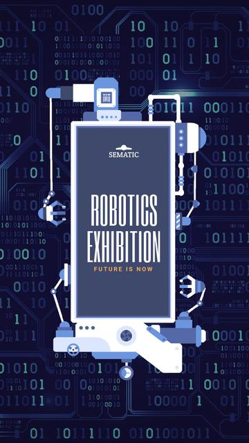 Robotics Production Line Frame Instagram Video Story – шаблон для дизайна