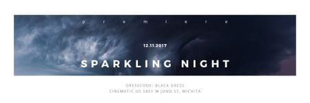 Sparkling night event Announcement Email header Design Template