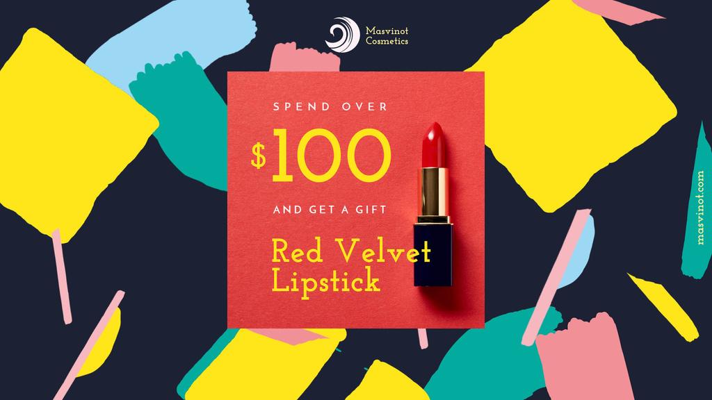 Special Offer with Red Velvet Lipstick - Bir Tasarım Oluşturun