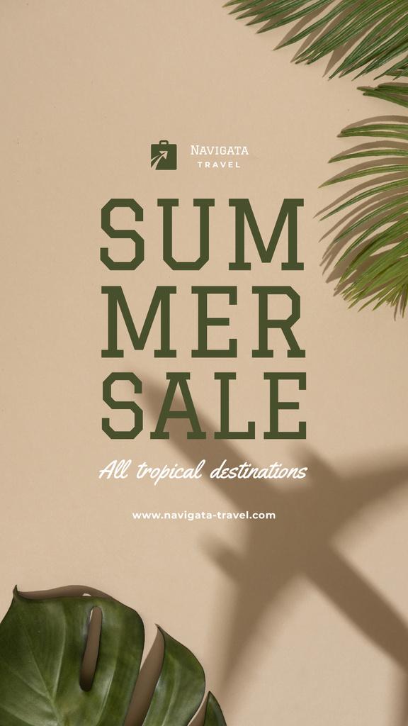 Summer Tour Sale with Palm leaves — Modelo de projeto
