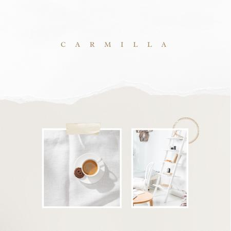 Template di design Breakfast in bed with Coffee and cookie Instagram