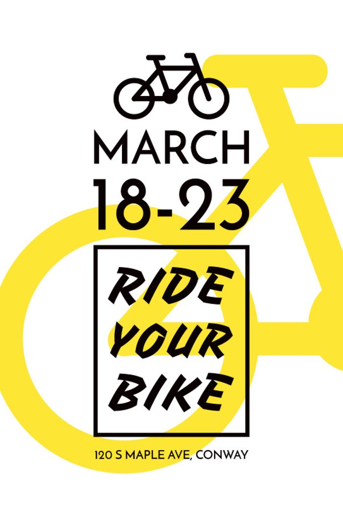 Cycling Event Announcement Simple Bicycle Icon — Crea un design