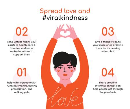 Designvorlage #ViralKindness Help Offer during Quarantine für Facebook