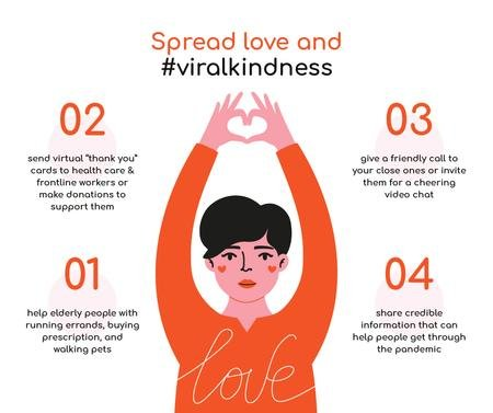 #ViralKindness Help Offer during Quarantine Facebook Modelo de Design