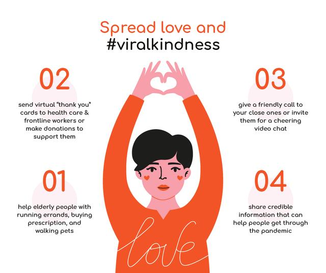 #ViralKindness Help Offer during Quarantine Facebook – шаблон для дизайна