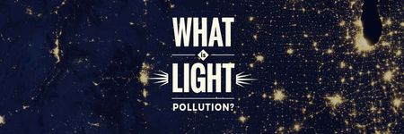 light pollution poster Twitter Modelo de Design