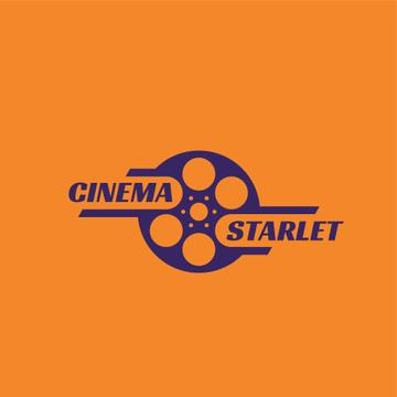 Cinema Film Bobbin Icon | Logo Template