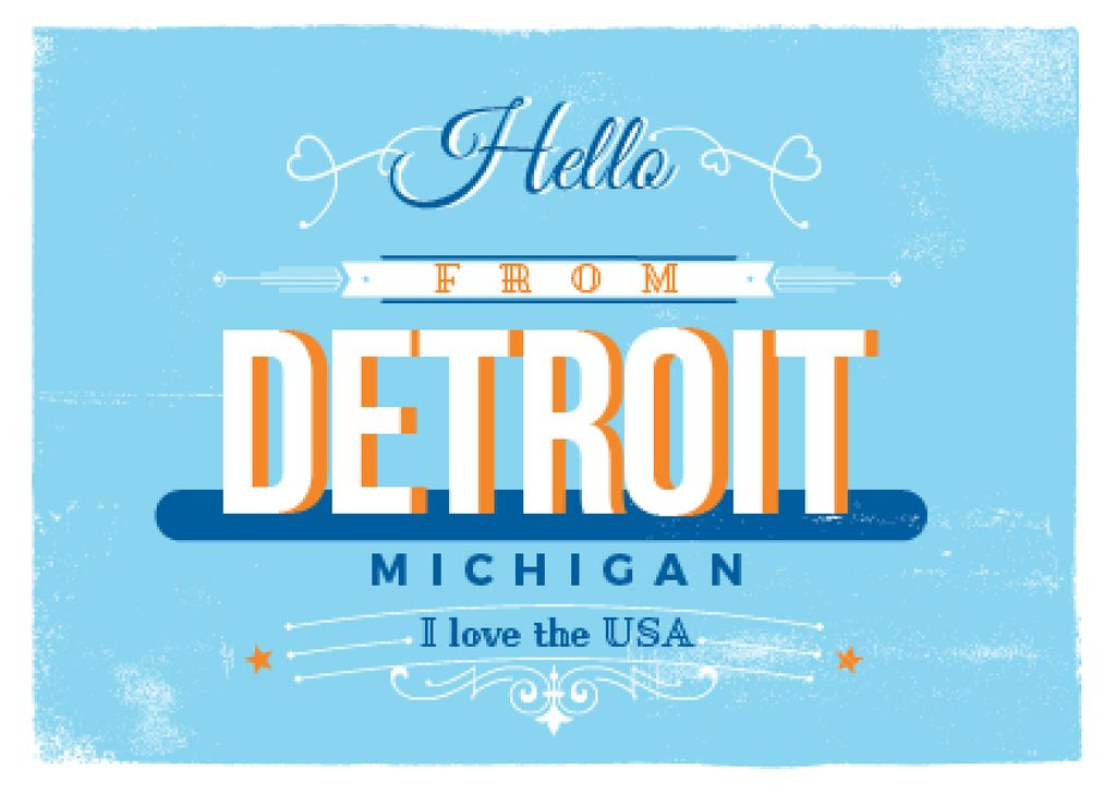 Detroit Michigan poster — Create a Design