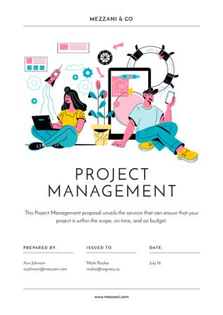 Plantilla de diseño de Business project managing offer Proposal