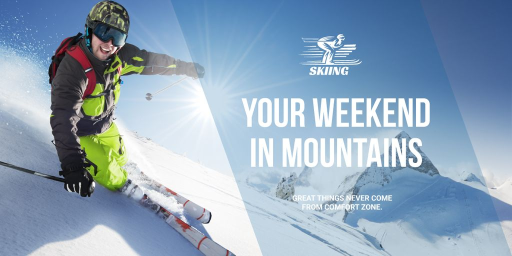 Weekend in mountains advertisement — Crea un design