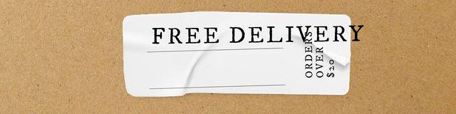 Modèle de visuel Delivery services promotion - Twitter