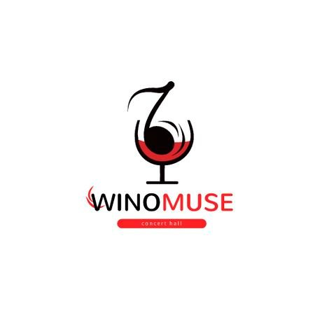Concert Hall Ad with Note in Wineglass Animated Logo – шаблон для дизайну