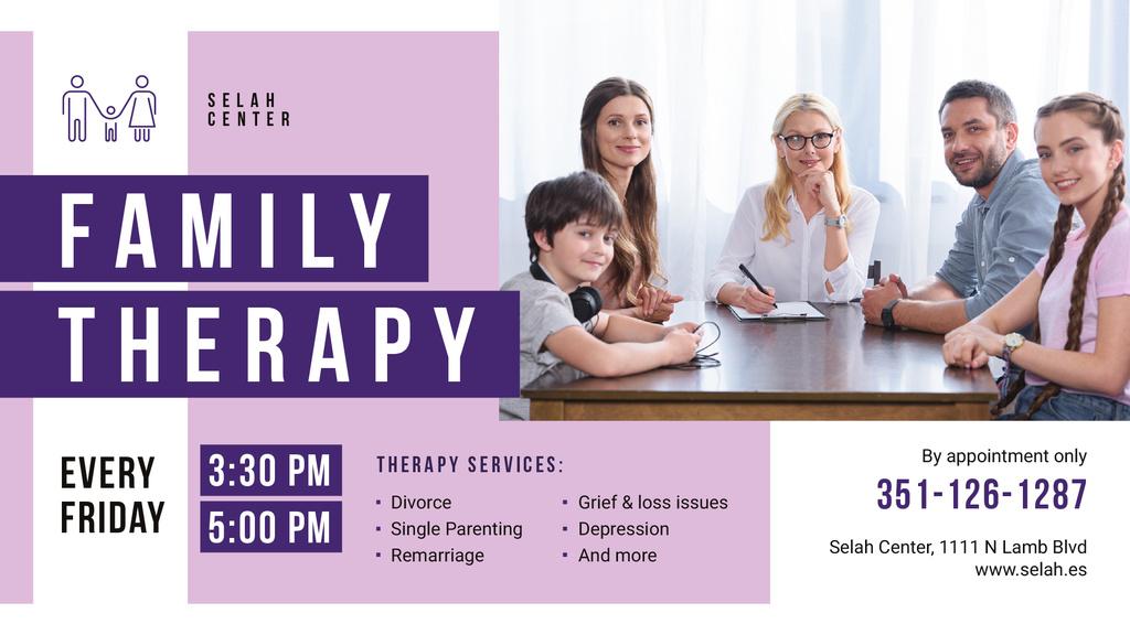 Family Therapy Center invitation — Créer un visuel
