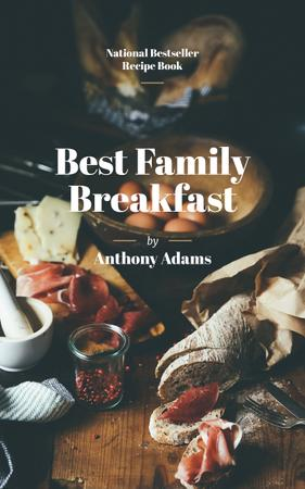 Delicious Breakfast Meal on Table Book Cover Design Template