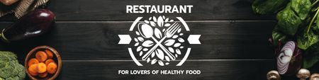 Restaurant for lovers of healthy food Twitter Modelo de Design