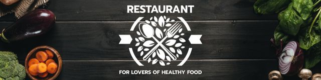 Plantilla de diseño de Restaurant for lovers of healthy food Twitter