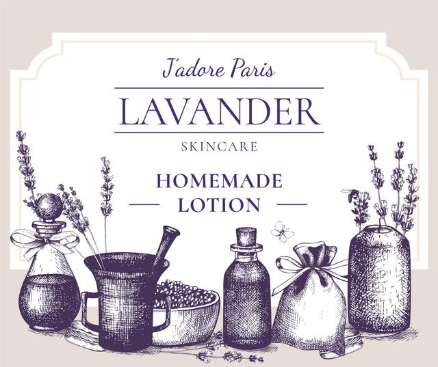 Plantilla de diseño de Homemade Cosmetics with Lavender flowers Facebook