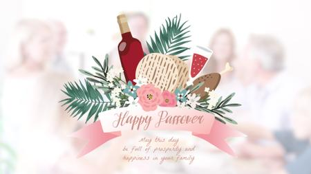 Plantilla de diseño de Happy Passover festive dinner Full HD video