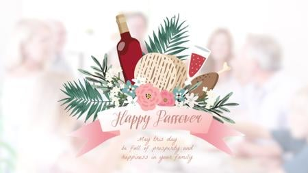 Template di design Happy Passover festive dinner Full HD video