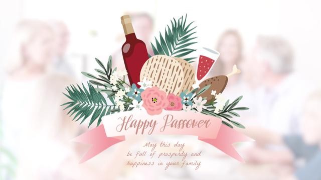 Modèle de visuel Happy Passover festive dinner - Full HD video