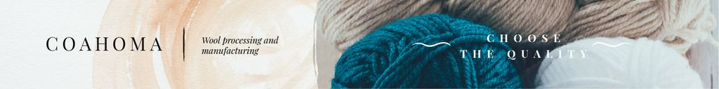 Wool Yarn Skeins in Pastel Colors | Leaderboard Template — Create a Design