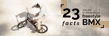 Template di design 23 facts about bmx poster  Twitter