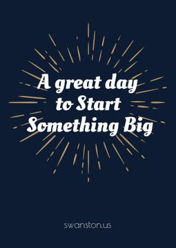 Citation about great day to start something big