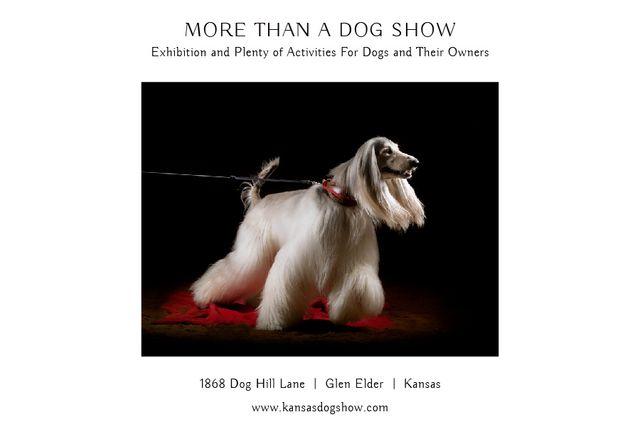 Template di design Dog Show in Kansas Gift Certificate