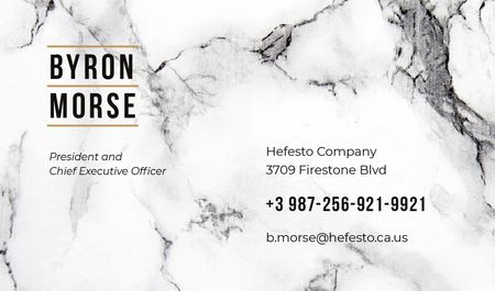Marble light texture Business card Modelo de Design