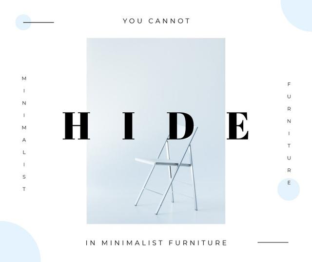 White minimalistic chair Facebook Modelo de Design