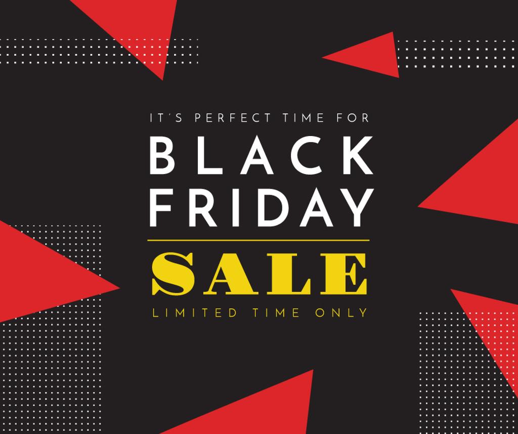 Black Friday sale on geometric pattern — Создать дизайн