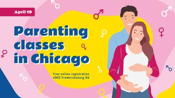 Parenting Classes Pregnant Woman and Her Husband | Facebook Event Cover Template