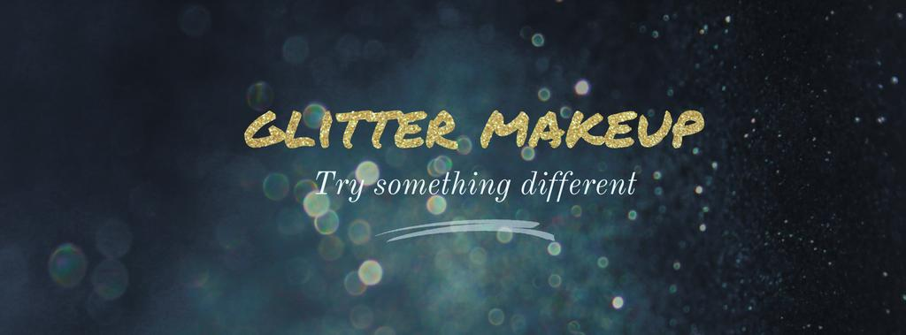Glitter makeup banner — Create a Design