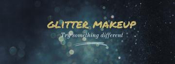 Glitter makeup banner