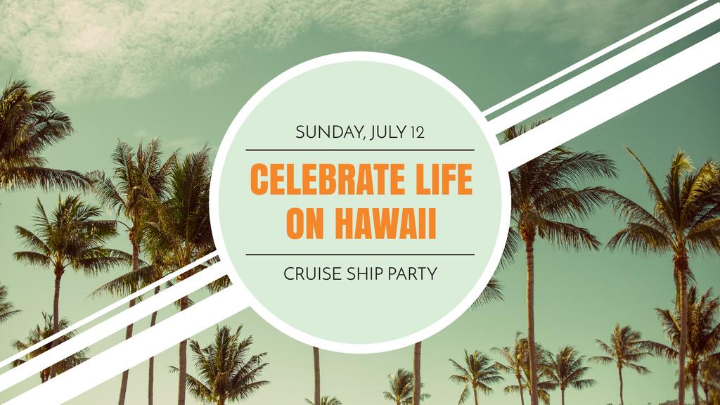 Hawaii Trip Offer with Palm Trees — Створити дизайн