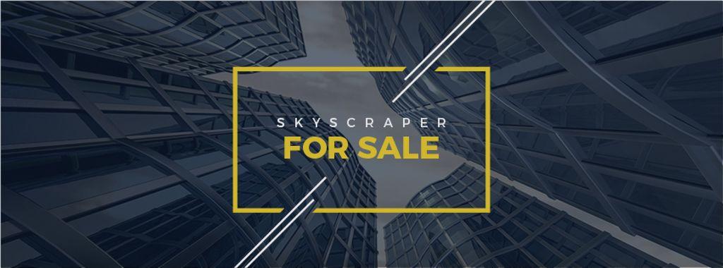 Skyscrapers for sale background — ein Design erstellen