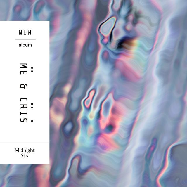 Abstract Holographic liquid pattern Album Cover Modelo de Design