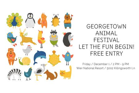 Georgetown Animal Festival Gift Certificate Modelo de Design
