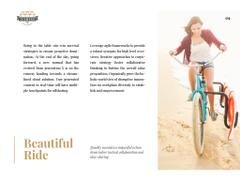 Young woman riding bicycle on seashore