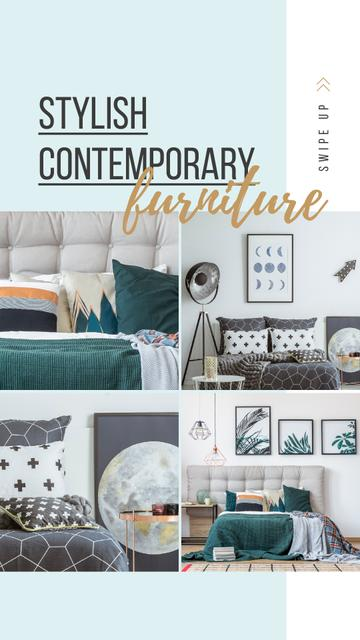 Plantilla de diseño de Furniture Ad Cozy bedroom interior Instagram Story