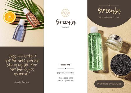Template di design Natural Cosmetics overview Brochure