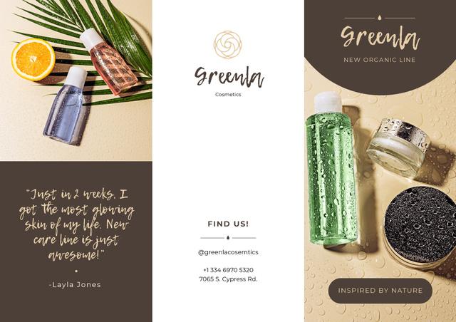 Plantilla de diseño de Natural Cosmetics overview Brochure