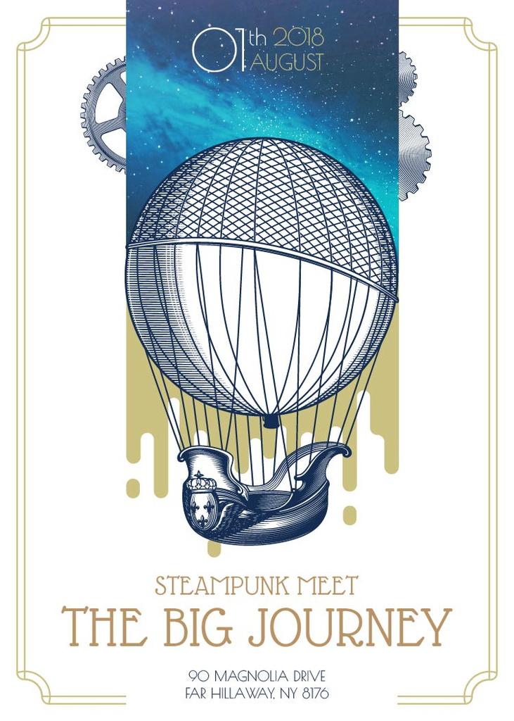 Steampunk event with Air Balloon — Créer un visuel