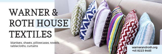 House Textiles Offer Email header Modelo de Design